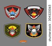 special unit military logo set. ... | Shutterstock . vector #304320065
