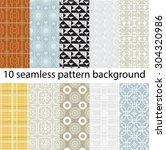 10 vector seamless patterns... | Shutterstock .eps vector #304320986