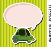 transportation car theme... | Shutterstock .eps vector #304332968