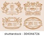 vector illustration of cute... | Shutterstock .eps vector #304346726