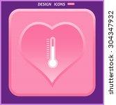 thermometer. icon. vector design   Shutterstock .eps vector #304347932