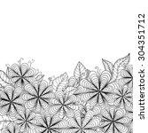 zentangle doodle floral... | Shutterstock .eps vector #304351712