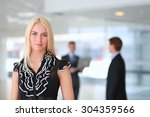 business woman standing in... | Shutterstock . vector #304359566