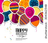 Vector Birthday Card With Pape...