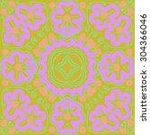 circular   pattern of  floral...   Shutterstock .eps vector #304366046
