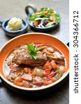 Small photo of Lamb shank in gravy with mix vegetable