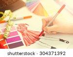 fashion designer working in