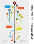 tree infographic element. with... | Shutterstock .eps vector #304374008