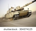 Military Armored Tank  Moving...
