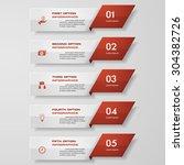 design clean number banners... | Shutterstock .eps vector #304382726