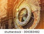 Astronomical Clock On Prague...