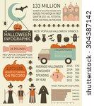 halloween infographic   sample... | Shutterstock .eps vector #304387142