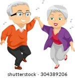 Illustration Of An Elderly...