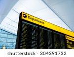 flight information  arrival ... | Shutterstock . vector #304391732