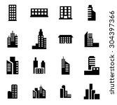 Vector Black Building Icon Set...