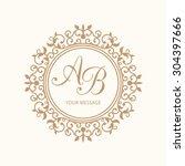 elegant floral monogram design... | Shutterstock .eps vector #304397666