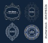 set luxury logos template... | Shutterstock .eps vector #304398326