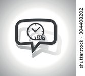 curved chat bubble with clock ... | Shutterstock .eps vector #304408202