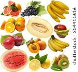 fresh fruit | Shutterstock . vector #304411616