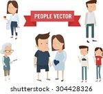 people set vector illustration | Shutterstock .eps vector #304428326