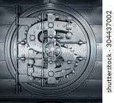 bank vault door. business... | Shutterstock . vector #304437002