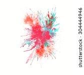 pastel three color  aqua blue ... | Shutterstock . vector #304444946