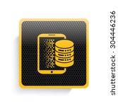 database icon design yellow...