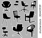 chair icons vector | Shutterstock .eps vector #30445939