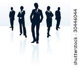 secret agent silhouette men...   Shutterstock .eps vector #30446044