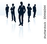 vector silhouettes set of... | Shutterstock .eps vector #30446044
