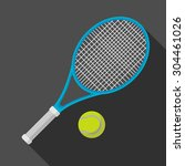 tennis racket and ball icon... | Shutterstock .eps vector #304461026