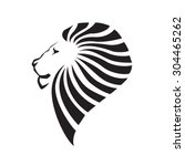 lion head silhouette. company... | Shutterstock .eps vector #304465262