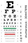 original eye chart   Shutterstock . vector #30447898