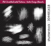 flat scratched metal texture... | Shutterstock .eps vector #304481618