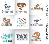 collection of logo and symbol... | Shutterstock .eps vector #304481672
