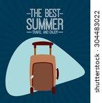summer vacations design  vector ... | Shutterstock .eps vector #304483022
