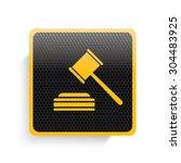hammer law icon design yellow...