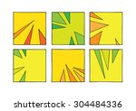 doodle squares with spikes... | Shutterstock .eps vector #304484336