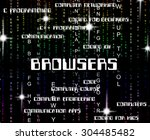browsers word indicating... | Shutterstock . vector #304485482