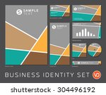 business identity set in gray ... | Shutterstock .eps vector #304496192