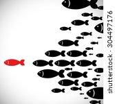 fish digital design  vector... | Shutterstock .eps vector #304497176