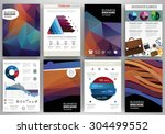abstract vector backgrounds and ... | Shutterstock .eps vector #304499552
