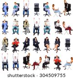 team over white clerks... | Shutterstock . vector #304509755