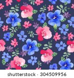 seamless pattern with beautiful ... | Shutterstock . vector #304509956