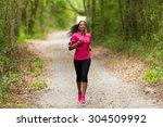 african american woman runner... | Shutterstock . vector #304509992