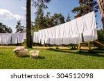 Fresh Clean White Towels Dryin...