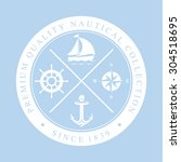 nautical label | Shutterstock .eps vector #304518695
