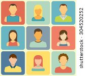 set of people icons. flat style ... | Shutterstock . vector #304520252
