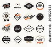 set of vintage style premium... | Shutterstock .eps vector #304520858