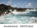 waves of the pacific ocean  the ...